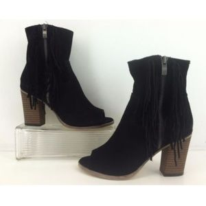 MIA Coty Fashion Ankle Boots Black Suede Leather